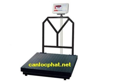 Hình cân điện tử 300kg xe kéo