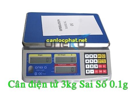 Cân điện tử 3kg sai số 0.1g