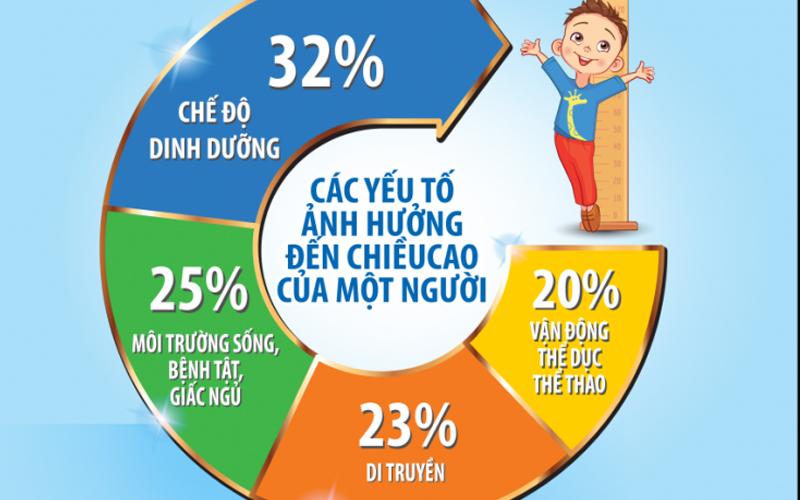 Các yếu tố ảnh hưởng đến chiều cao cân nặng